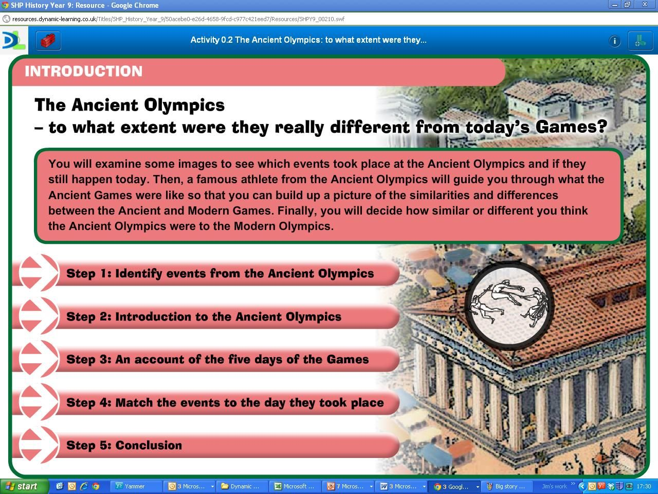 0.2 Compare the modern and ancient Olympics using illustrations from ancient pottery