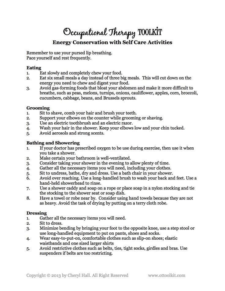 saving energy self care activities ot geriatrics saving energy self care activities