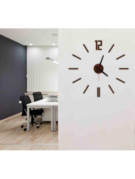 Moderne Wanduhr LUIS, Farbe: Braun Artikel Nr.: X0019 RAL8017 BLACK Hands  Zustand: Neuer Artikel Verfügbarkeit: Auf Lager Die Zeit Ist Reif Für Eine  ...