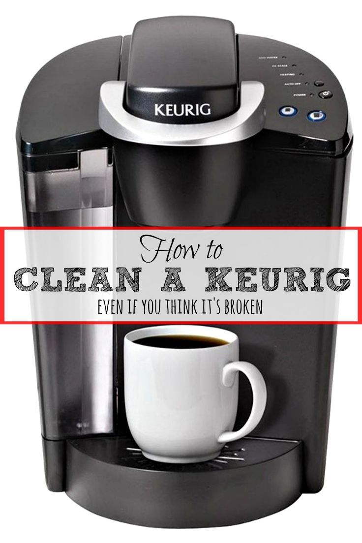 How to clean a keurig and fix a broken one cleaning