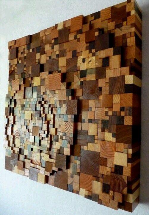 Scrap Wood Pieces Wall Art Scrap Wood Art Wood Art Scrap Wood Crafts