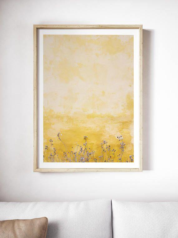 Printable Minimal Yellow Wall Print | Yellow Art | Yellow Print ...