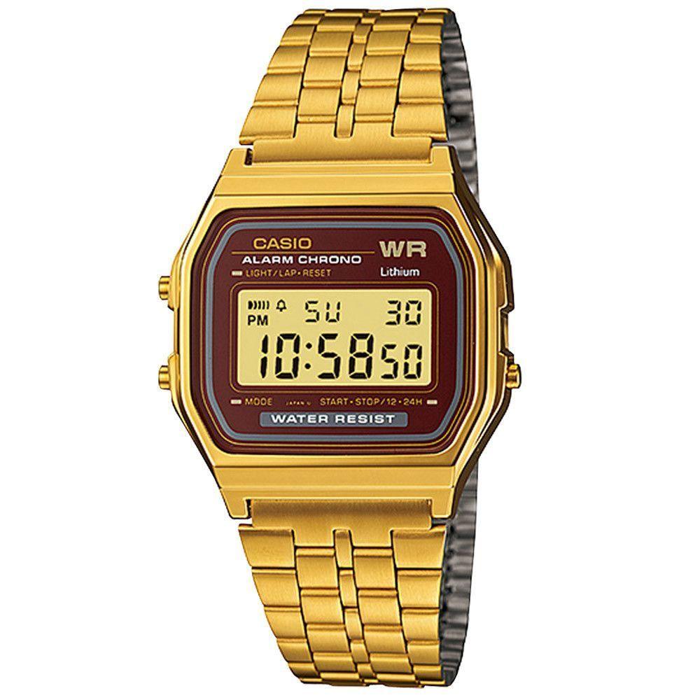 72ae85d010c Casio Men s Digital Quartz Gold Tone Band Digital Dial