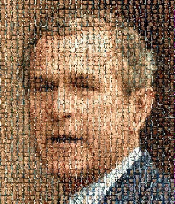 Una obra de arte increíblemente triste y notable, de las caras de 670 soldados que murieron en la guerra de Irak