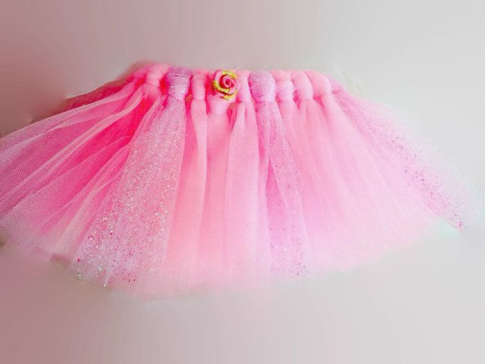 Tulle Tutu Baby Newborn 0-3 Months Pink Glitter by YoungSparkleandShine on Etsy