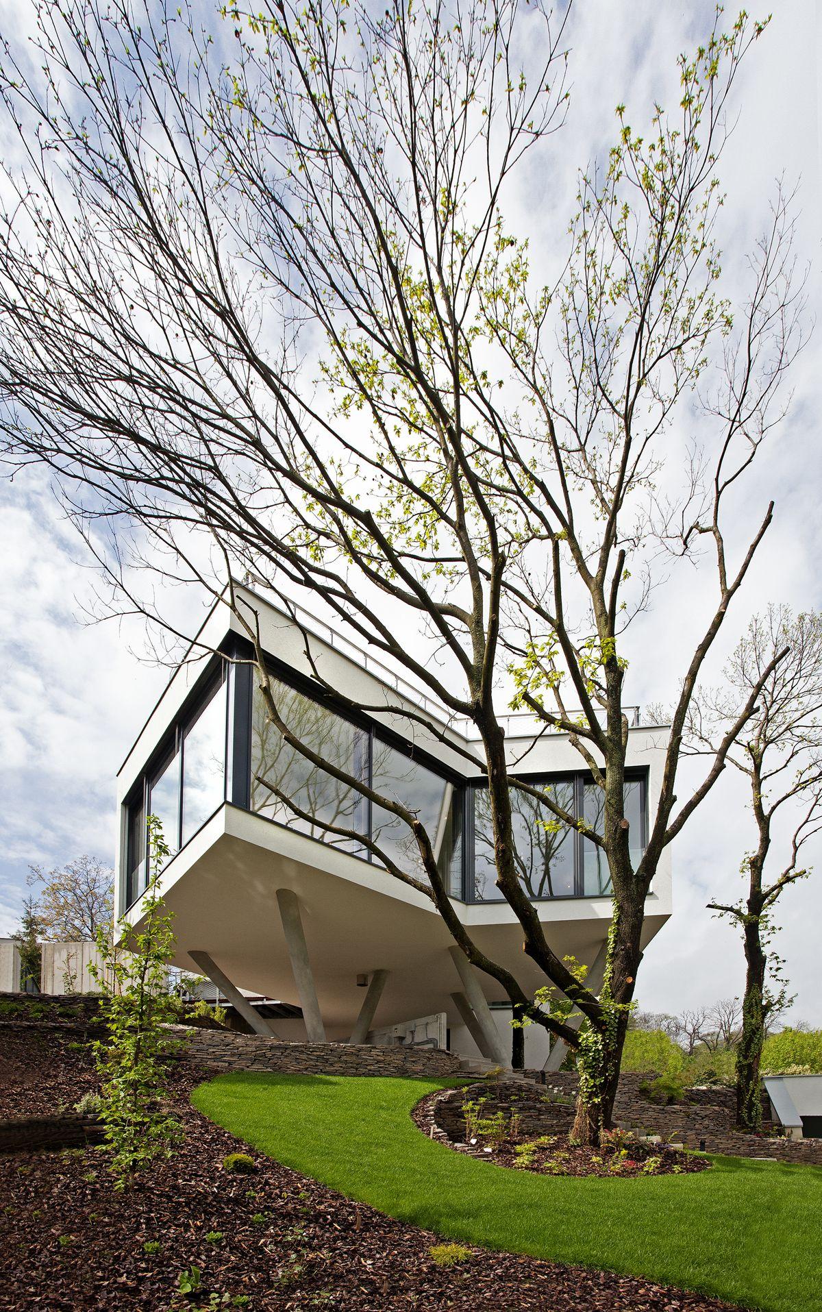 Dom medzi stromami_House between the trees_Architekti Šebo Lichý, Bratislava, Slovensko. Fotograf: Tomáš Manina