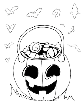 Candy Jack O Lantern Coloring Page Halloween Coloring Sheets Halloween Coloring Pages Coloring Pages