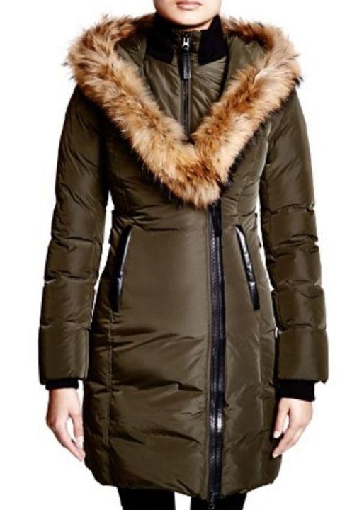 f927cb8650c3f Puffer Coat - Cute Winter Coats - THIGH-LENGTH PARKA - Lavish Down Coat  with Fur Trim