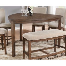 D872 Light Brown Wood Triangle Counter Height Dining Table Counter Height Dining Table Dining Table Design Traditional Dining Room Table