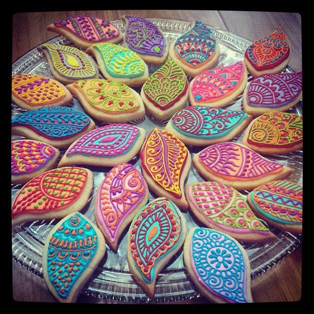 Sikh Wedding Food: Henna Cookies #hennalounge