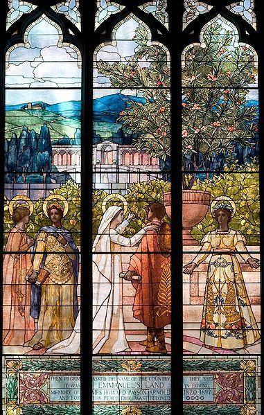 Glass detail in Emmanuel Church, Boston