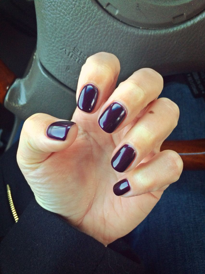 Shellac Acrylic Nails: Shellac Plum Paisley. This Is A Very Dark Purple Almost