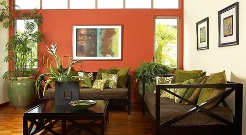 Living Room Orange Walls Design, Pictures, Remodel, Decor And Ideas