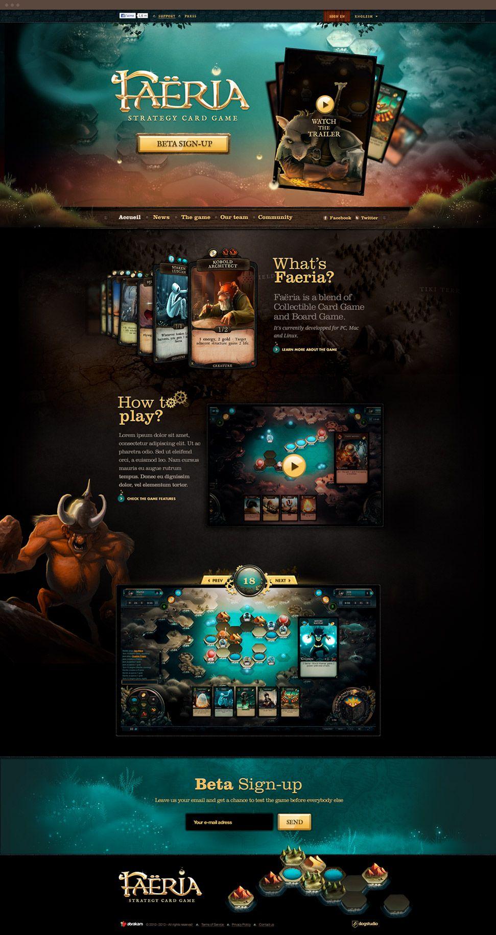 Faeria · Dogstudio | Website | Pinterest | Gaming, Game ui and Ui ux