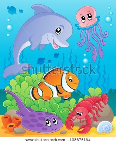Image with undersea theme 5 - vector illustration. by Klara Viskova, via Shutterstock