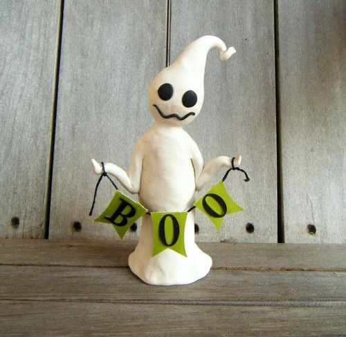Polymer clay ghost