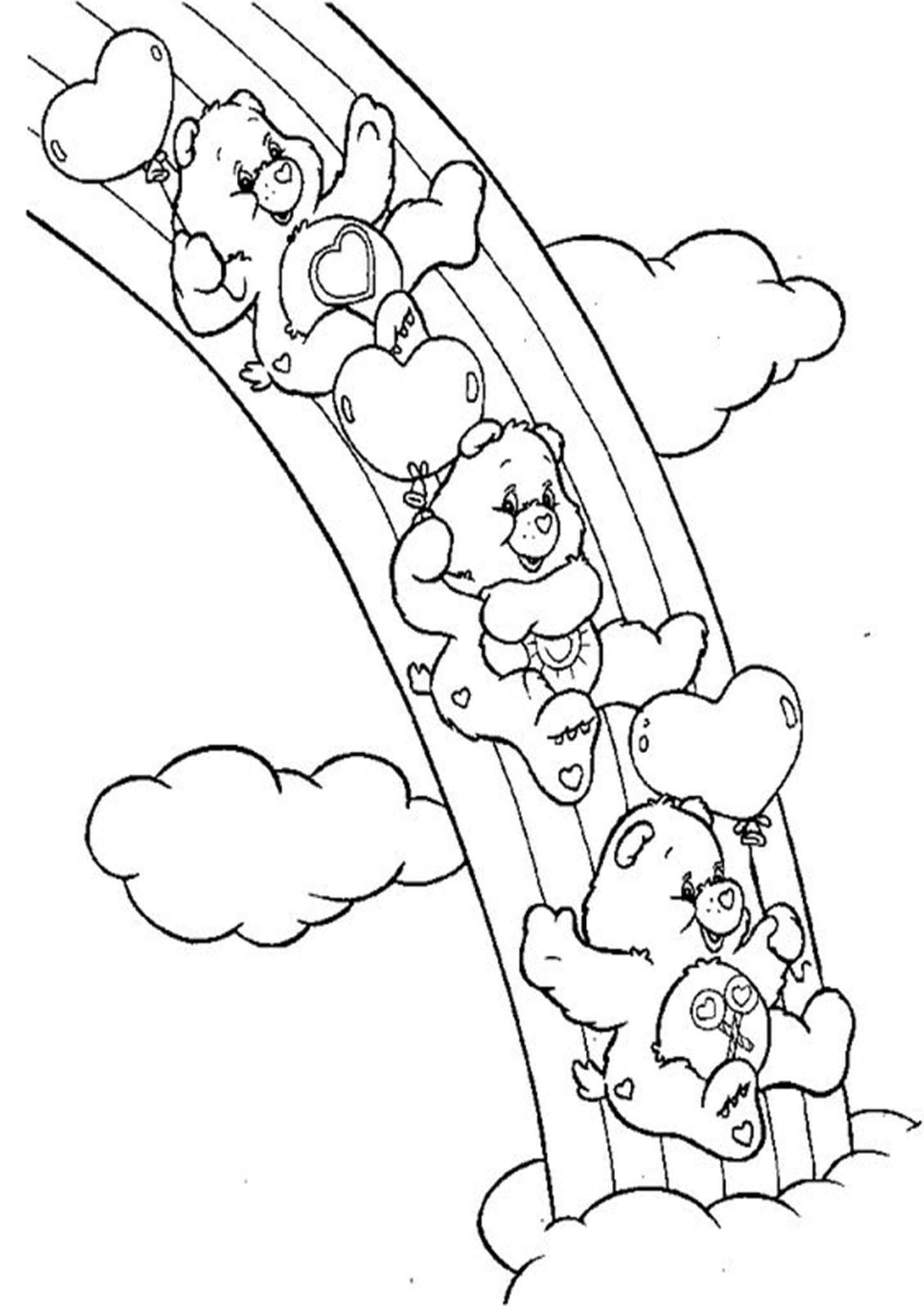 Free Easy To Print Rainbow Coloring Pages Bear Coloring Pages Cute Coloring Pages Teddy Bear Coloring Pages