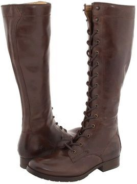 33fd44daa98 Frye - Melissa Tall Lace (Brown Leather) - Footwear on shopstyle.com ...