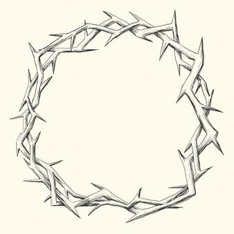 Cristo Fotos Y Vectores Gratis Manos Dibujo Corona De Espinas Corona Dibujo