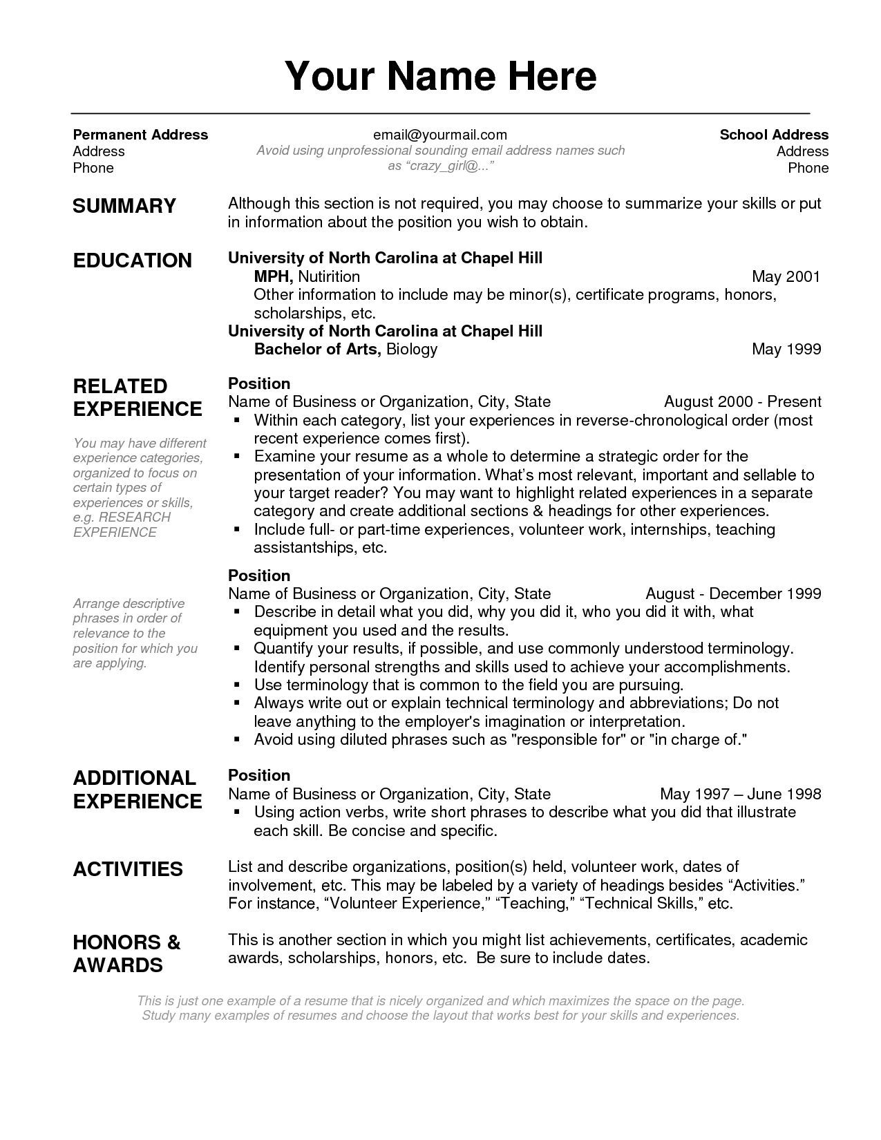 resume layout examples - Gese.ciceros.co