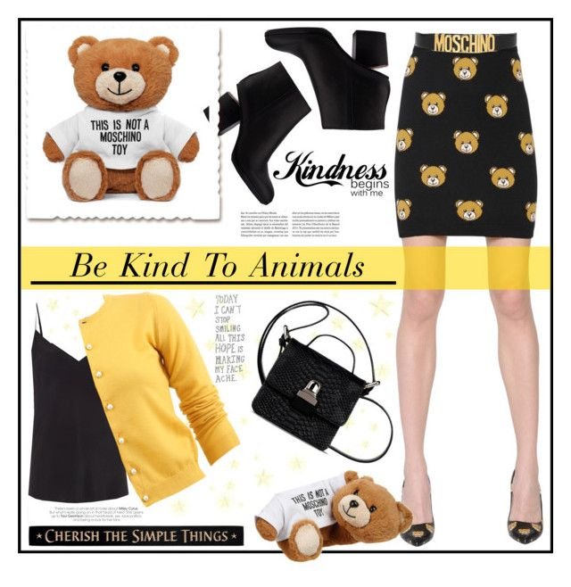 """""""Bears"""" by pumsiks ❤ liked on Polyvore featuring Moschino, Paul Smith, Alexander Wang, DutchCrafters, MM6 Maison Margiela, Boutique Moschino, contestentry and polyvoreeditorial"""