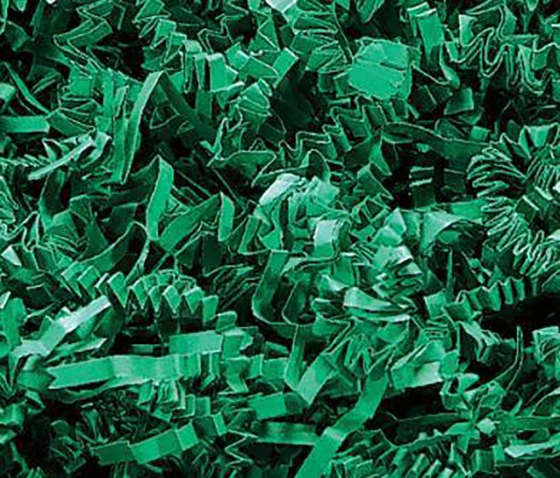 Patrick/'s  Style Shredded Gift Basket Filler Paper Custom /& Unique {8 Ounces} of Dark Green Straight Cut Fun Festive Seasonal Holiday St