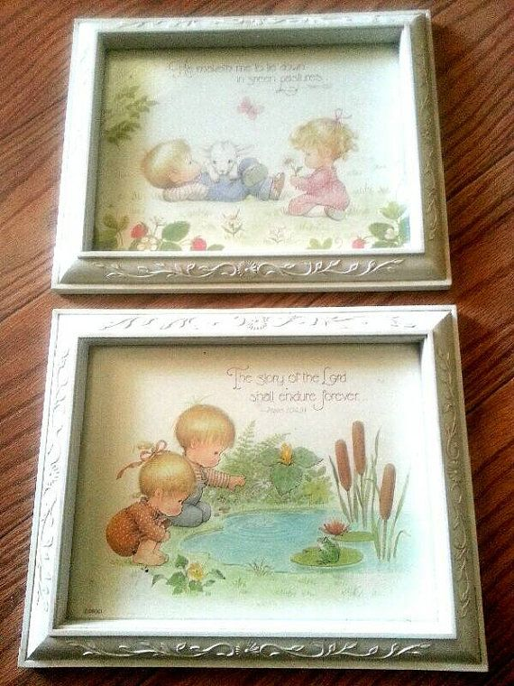 Clearance Vintage nursery HOMCO picture frames for babies room ...