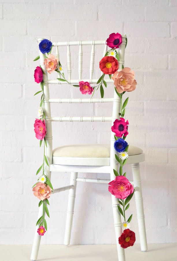 Handmade paper flower garland floral design pinterest paper handmade paper flower garland this paper flower garland makes an absolutely lovely and versatile wedding decoration made in east london each flower is mightylinksfo