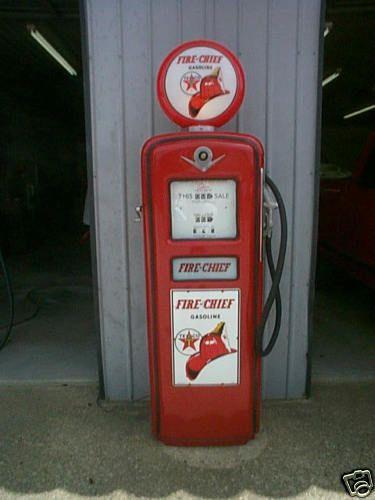 Vintage gilbarco texaco fire chief gas pump very nice | ~Gas