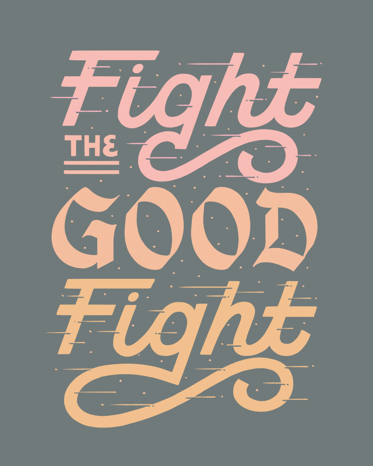 FightTheGoodFight.png Logo's, Training, Liefde