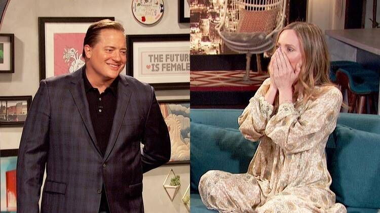 Brendan Fraser Used To Kiss Leslie Mann On The Lips Every Morning