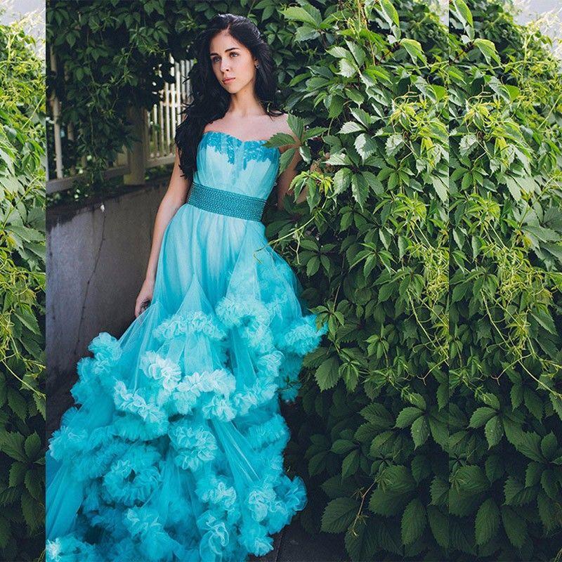 Luxury Plus Size Bridal Gown Fluffy Cloud Long Train