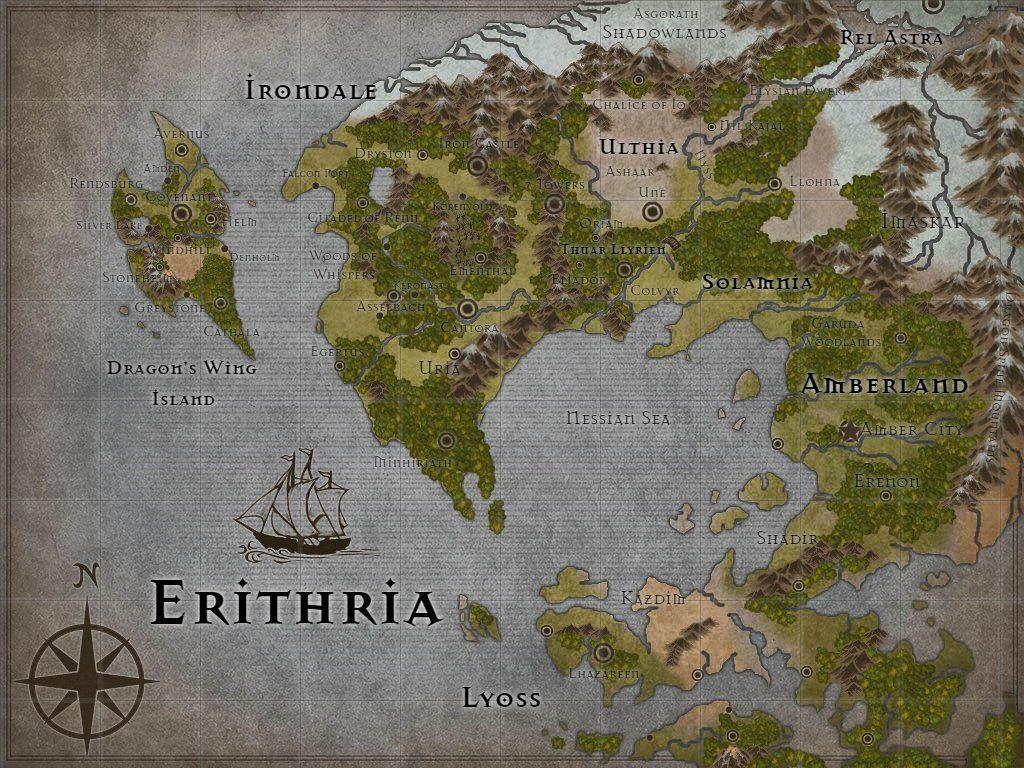Erithria World Map : dndnext in 2019 | Fantasy world map ...