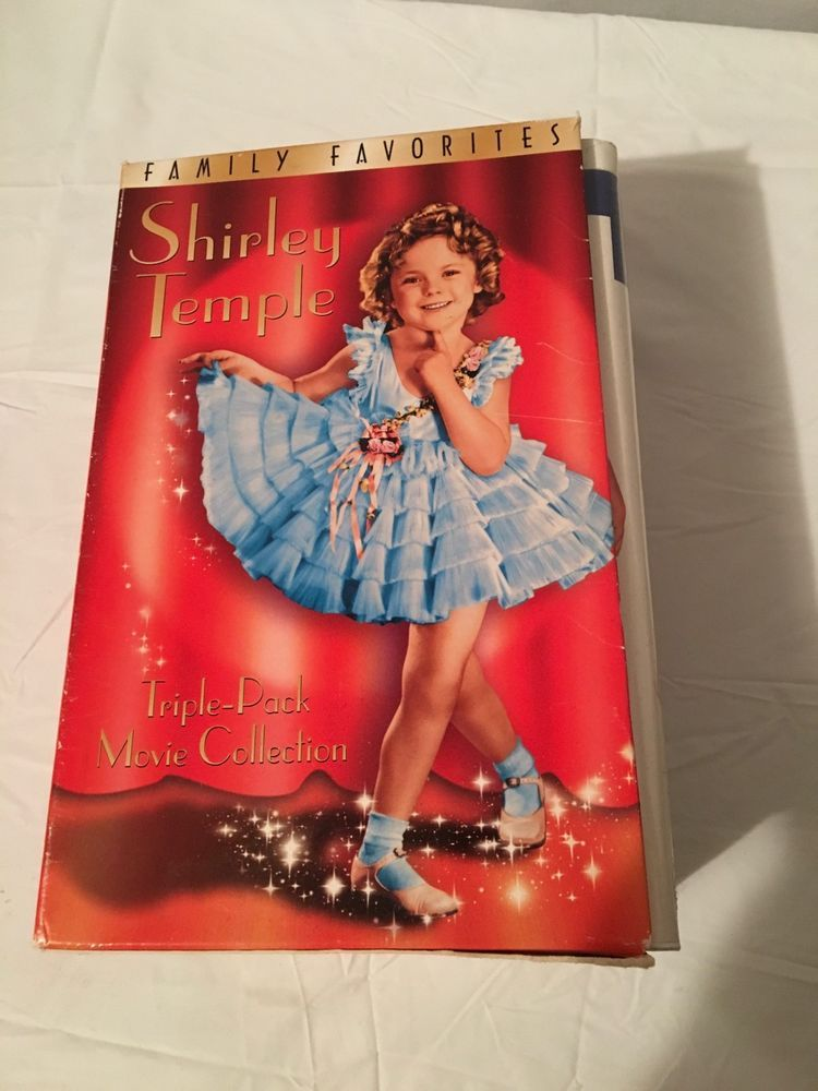 Shirley Temple Child Star 3 Vhs Tapes Gift Set Heidi Curly Top Baby Take A Bow Temple Gifts Tape Gifts Disney Presents