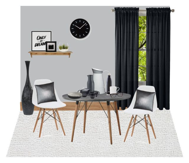 """""""dark tone living space"""" by tayscutts on Polyvore featuring interior, interiors, interior design, home, home decor, interior decorating, CB2, Royal Velvet, Lene Bjerre and Baron Von Fancy"""