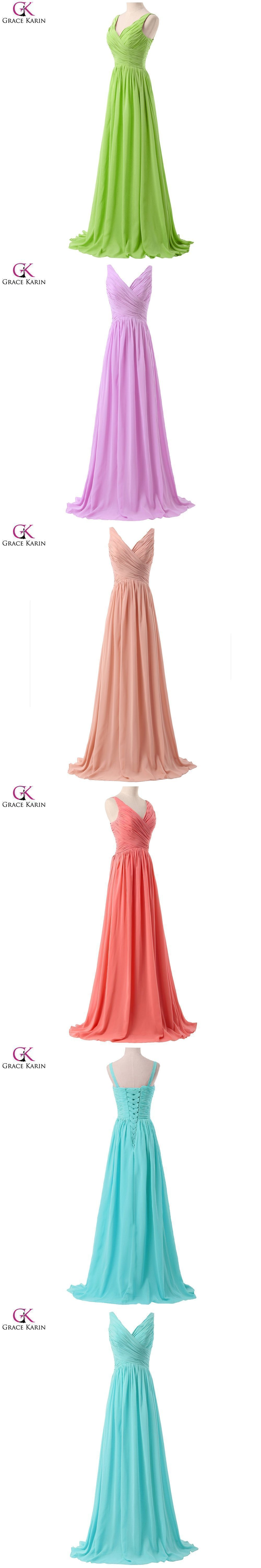 Grace karin aqua blue bridesmaid dresses blush pink red purple mint