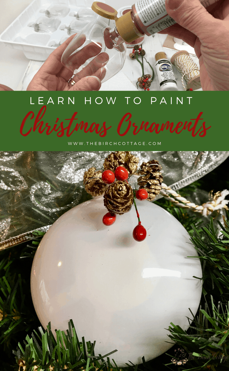 How To Paint Clear Christmas Ornaments Clear Christmas Ornaments Glass Ornaments Diy Diy Christmas Tree Ornaments