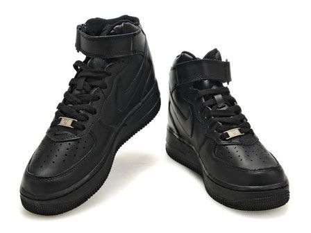 nike air force 1 all black mid