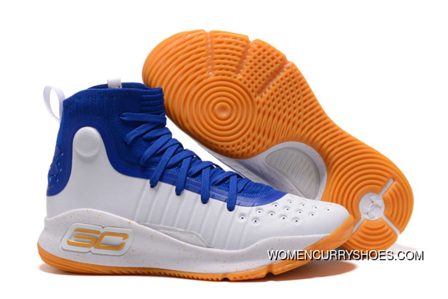 Under Armour Curry 4 White Royal Blue-Gum New Year Deals in 2019 ... 93e66777e1