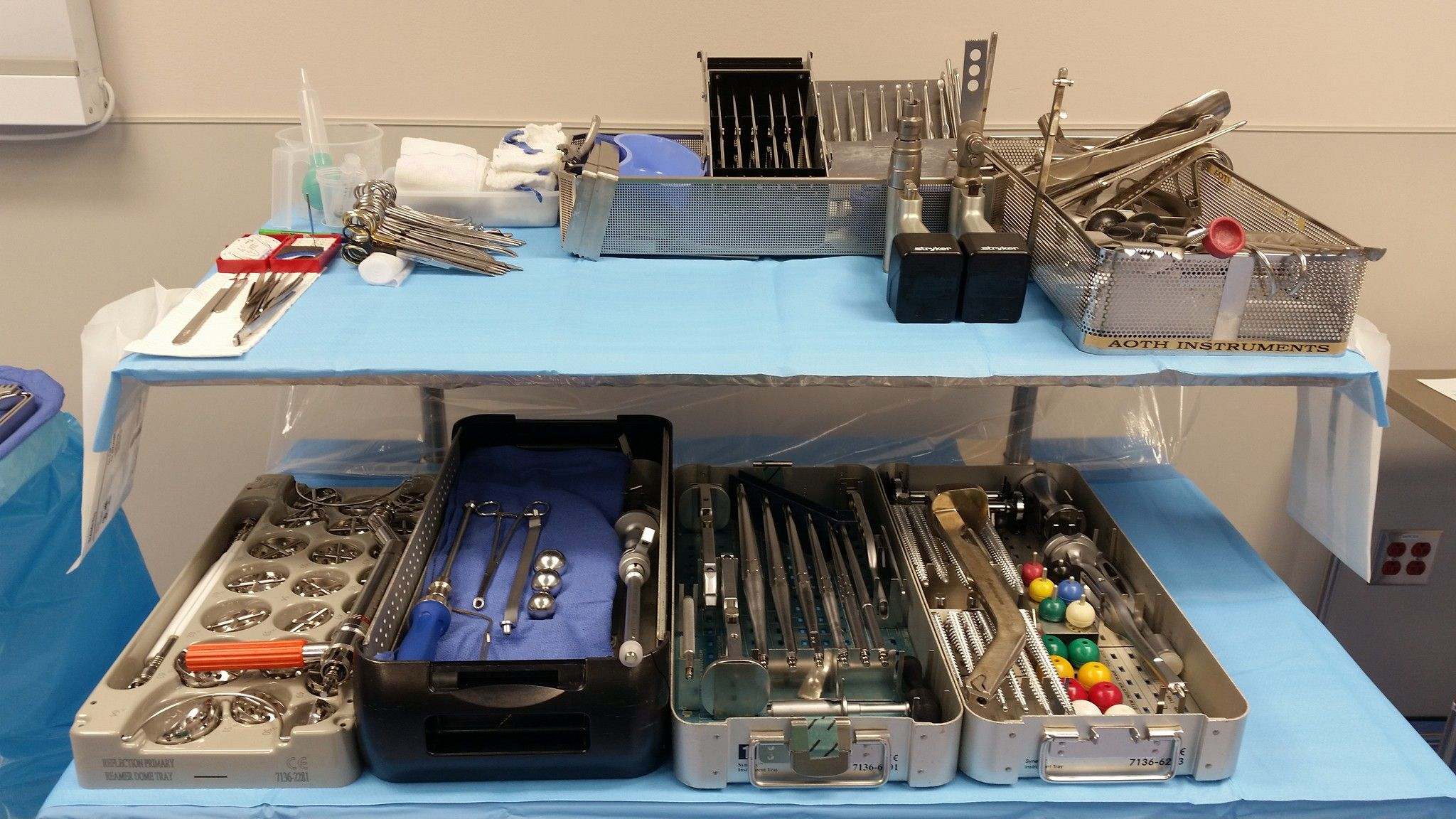 Photos & description of instrumentation used for Total Hip