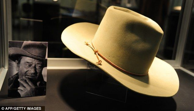 A Stetson cowboy hat worn by John Wayne in The Man Who Shot Liberty Valance  ( 4cd46552e95
