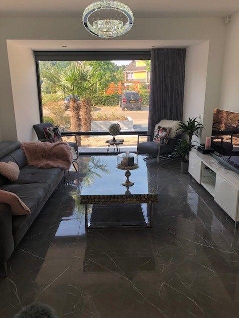 Hoogglans Vloertegel 80x80 Cm Marmerlook Grijs A76 Rb Tegels Tiel Floor Design White Marble Floor Marble Flooring Design