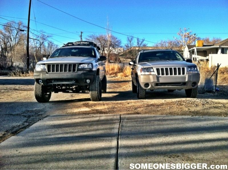 Someonesbigger Com Lifted Wj Vs Stock Jeep Grand Charokee Jeep