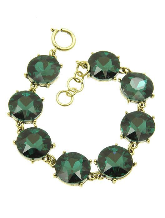 BRACELET ROUND CUT FACETED HOMAICA STONE 7 INCH LONG 16mm STONE