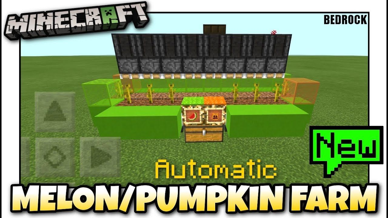 Minecraft Melon Pumpkin Farm Automatic Tutorial