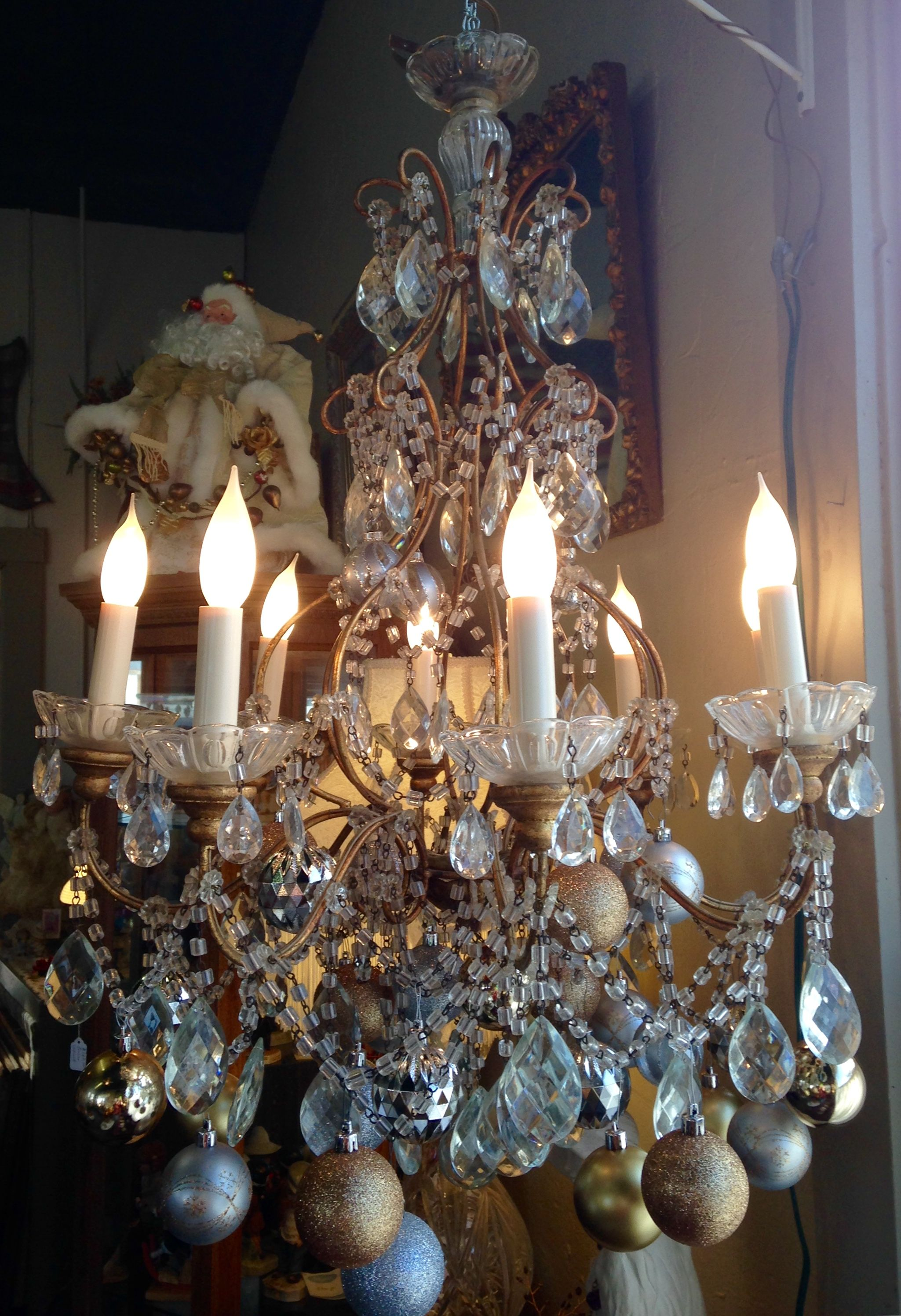 Beautiful vintage chandelier loaded with true crystal drops and beautiful vintage chandelier loaded with true crystal drops and ropingl decked arubaitofo Images