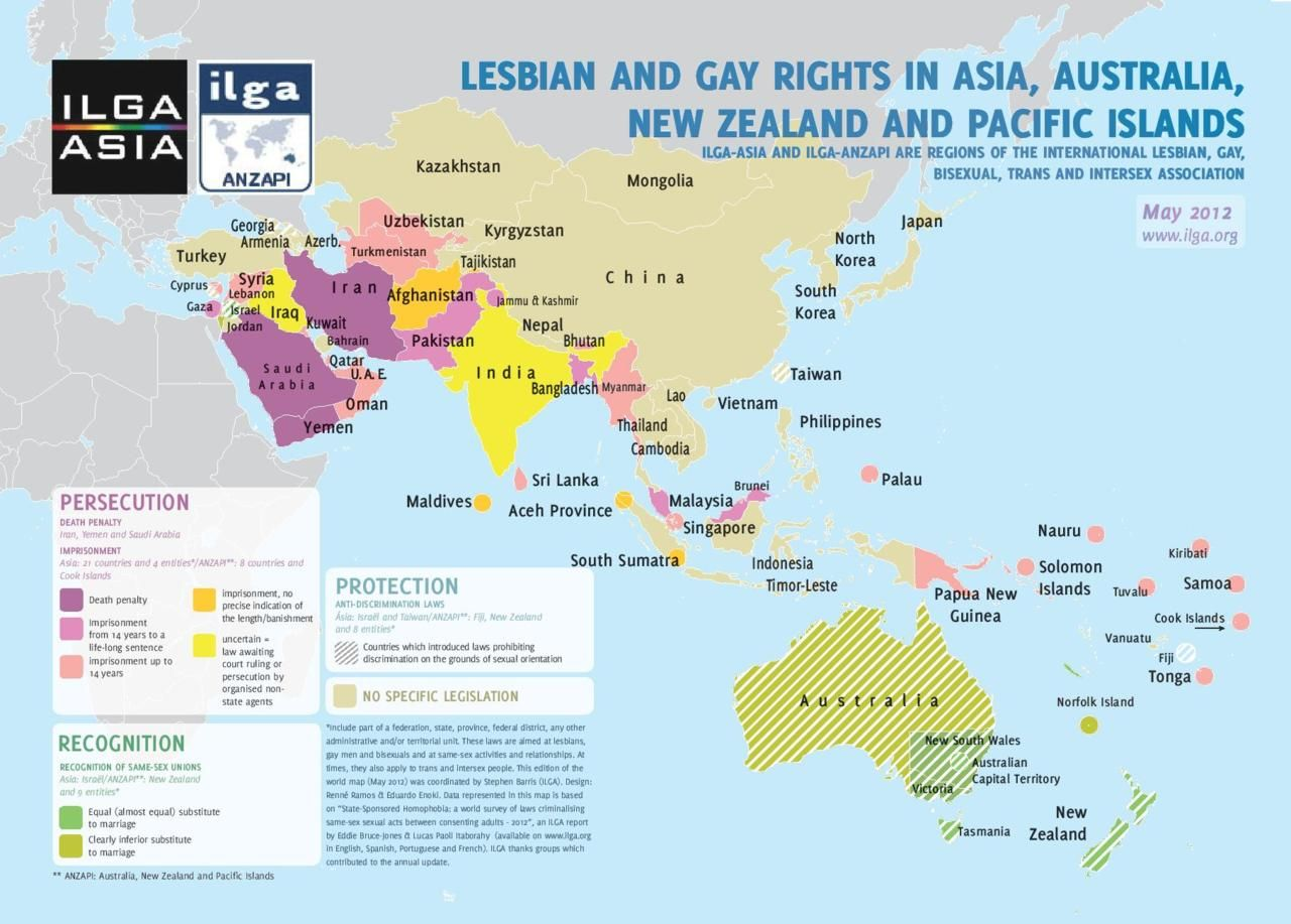 Maps The Best And Worst Places To Live If You Re Gay Gay Travels