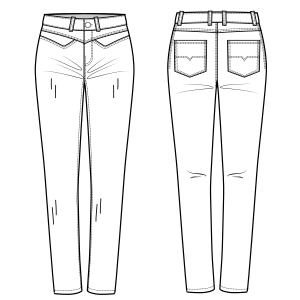 Patrones Ropa Tallas Grandes Pantalon Jean 7047 Dama Tallas Grandes Modelagem