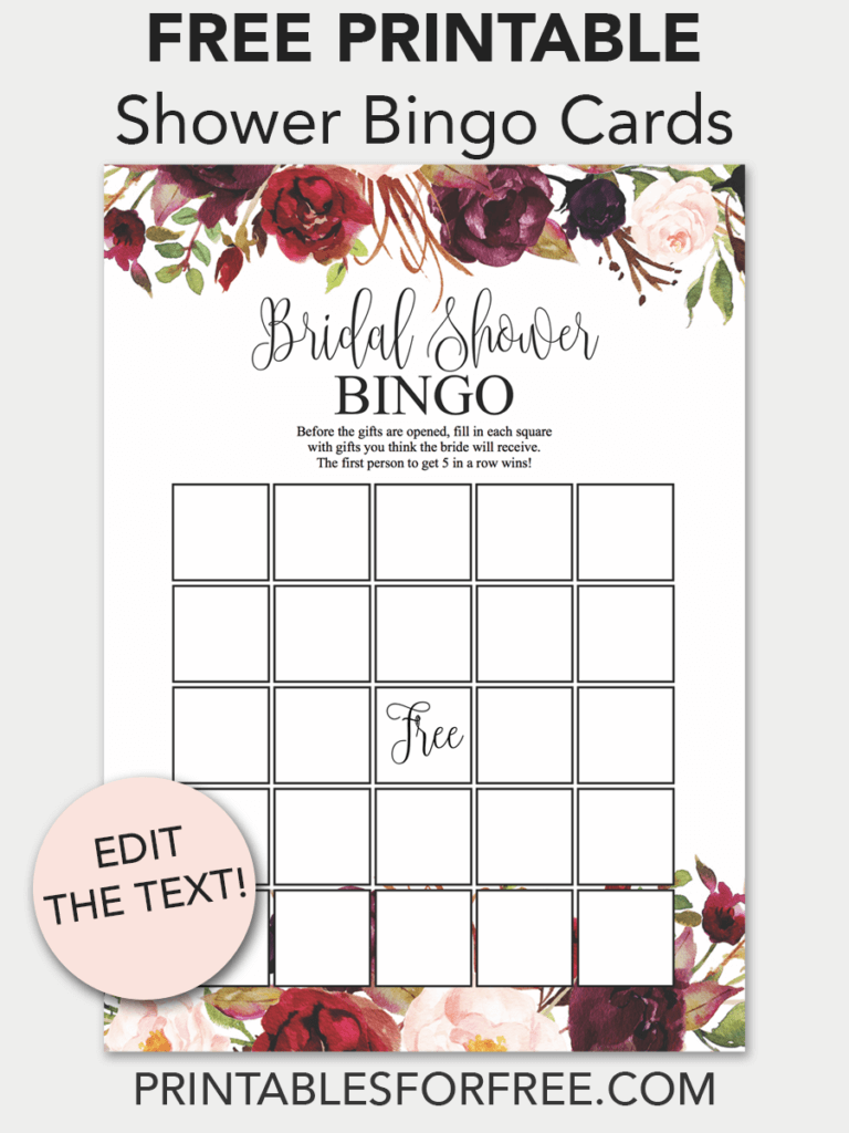 free printable bridal shower bingo cards download and print these free printable bingo cards for the bridal shower you are having