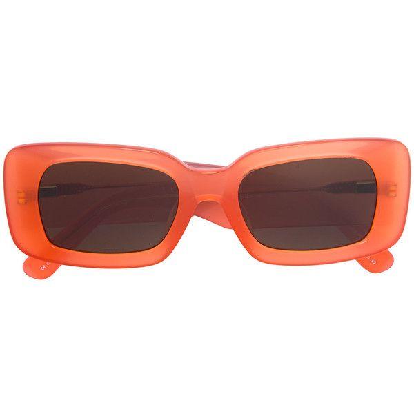Linda Farrow Dries Van Noten X Linda Farrow Rectangular Sunglasses ($345) ❤  liked on